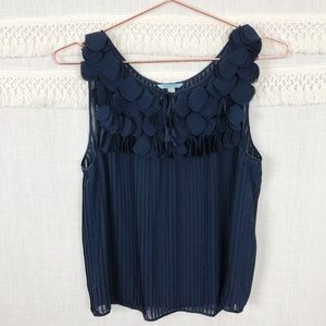 Anthro Leifnotes   Navy Petals Pleated Blouse   2